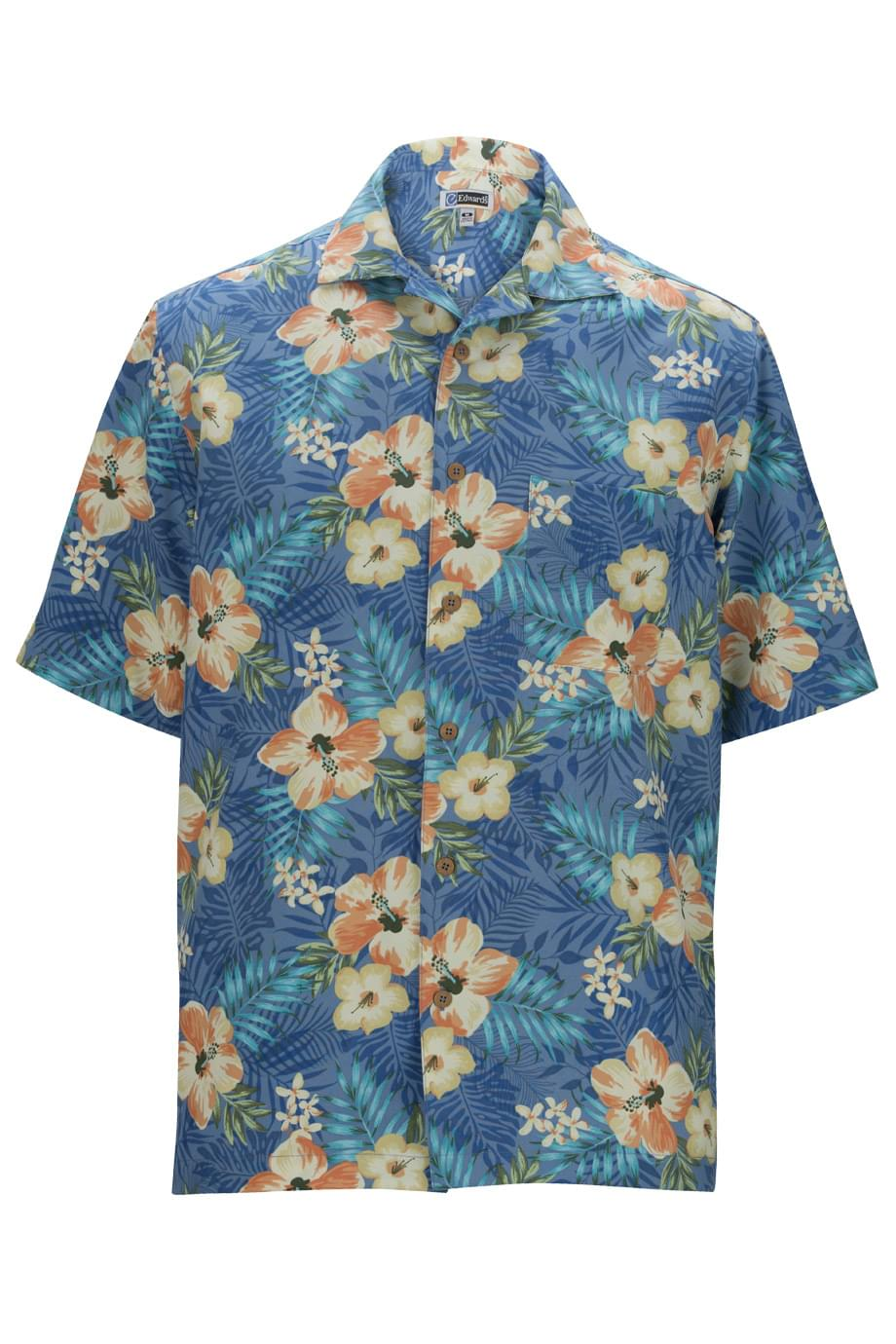 HIBISCUS MULTI-COLOR CAMP SHIRT