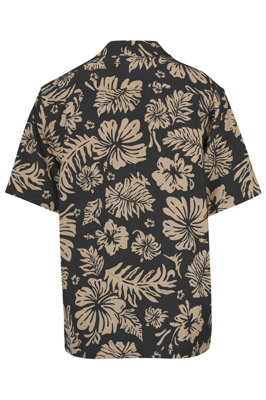 HIBISCUS TWO-COLOR CAMP SHIRT