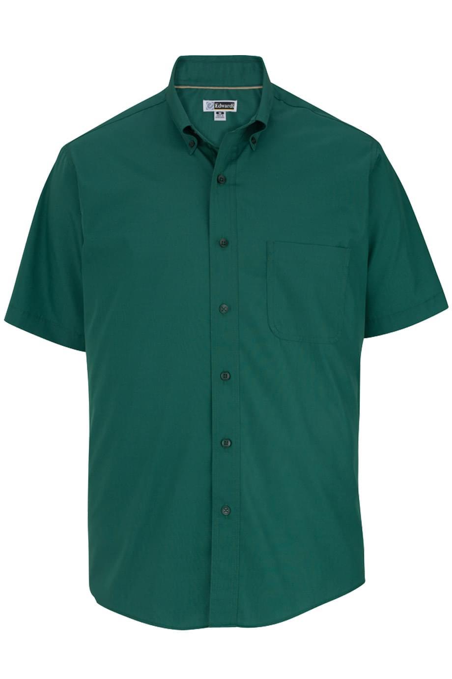 Edwards Garments Men's Short Sleeve Soft Touch Poplin Shirt 1245
