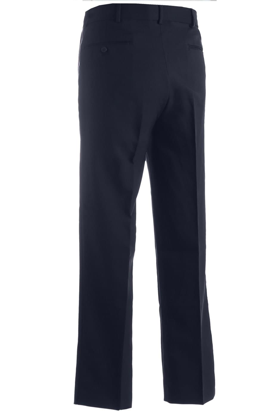 POLYESTER FLAT FRONT PANT