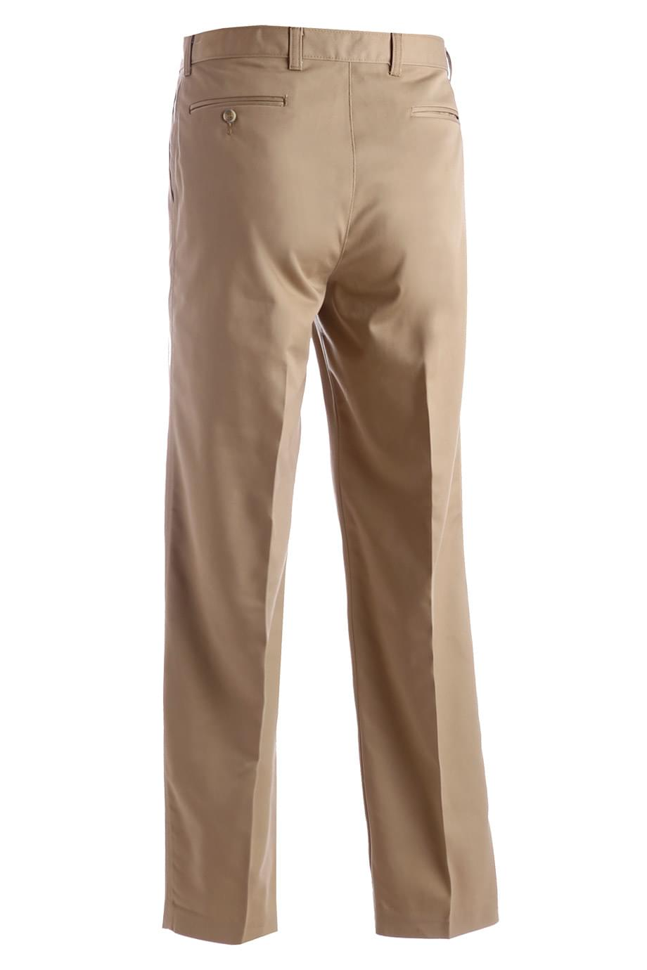BLENDED CHINO FLAT FRONT PANT