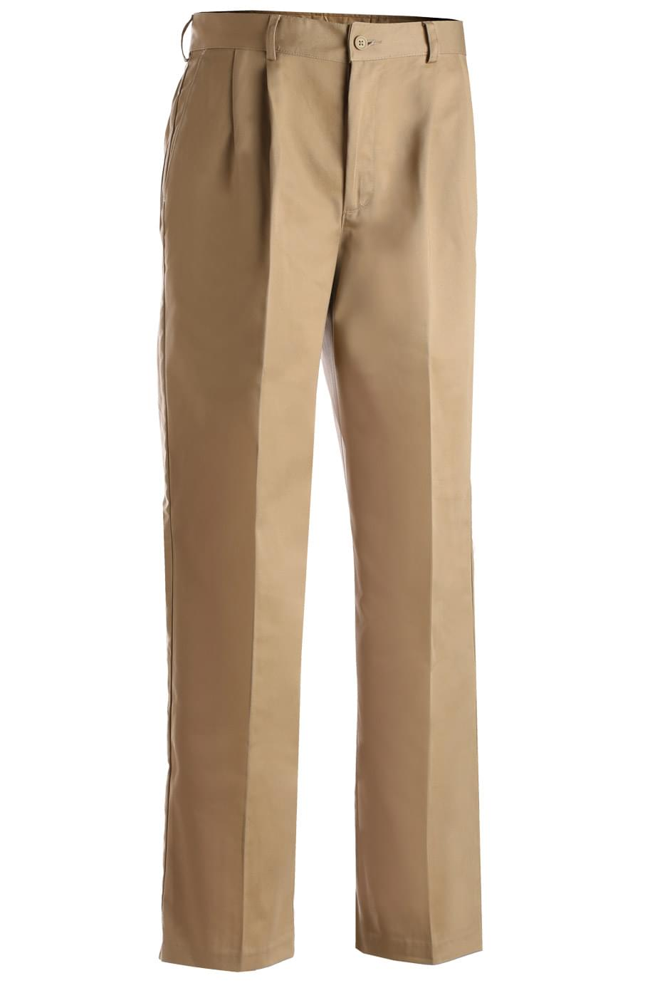 BLENDED CHINO PLEATED FRONT PANT
