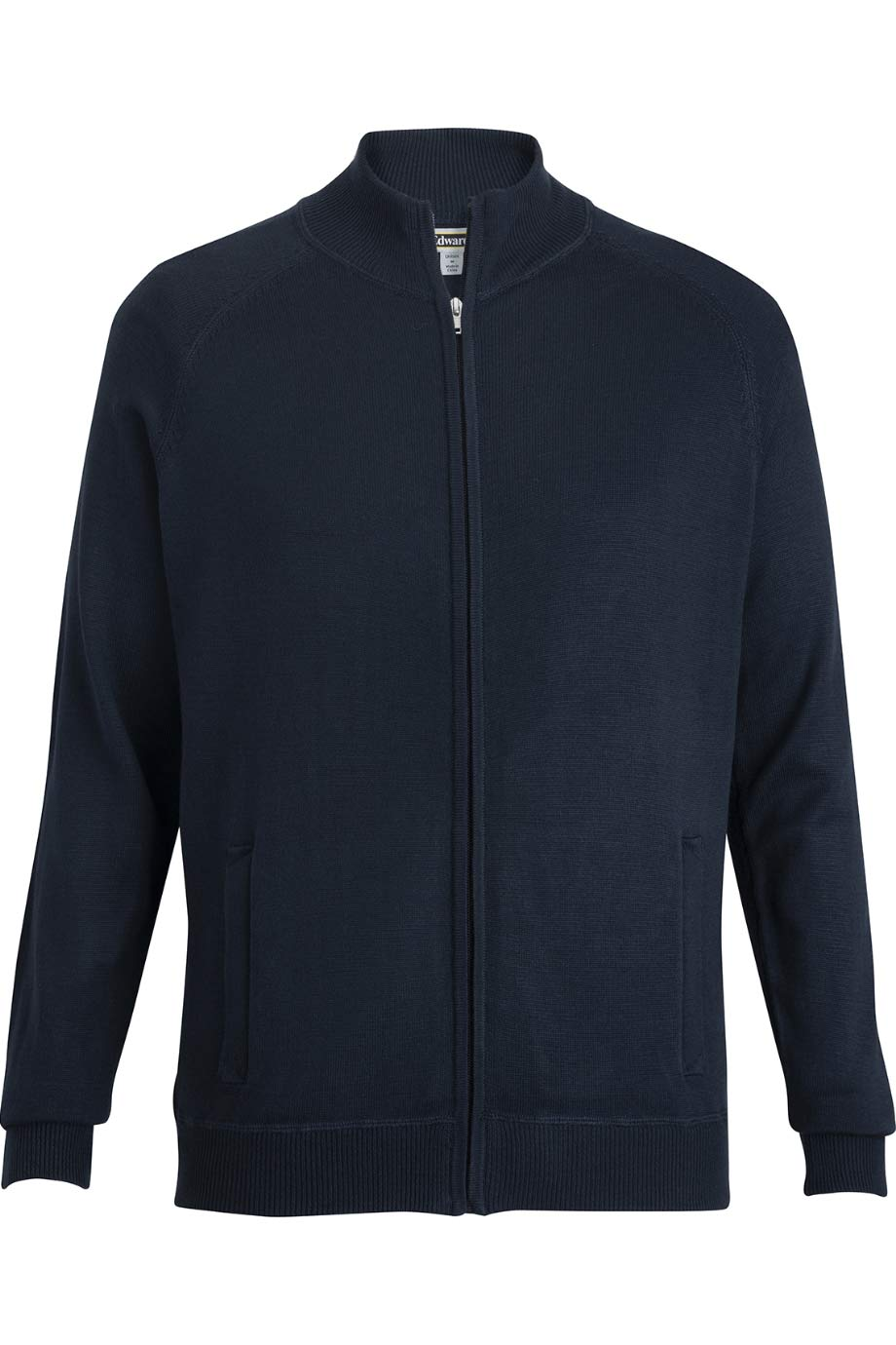 FULL-ZIP SWEATER JACKET WITH POCKETS