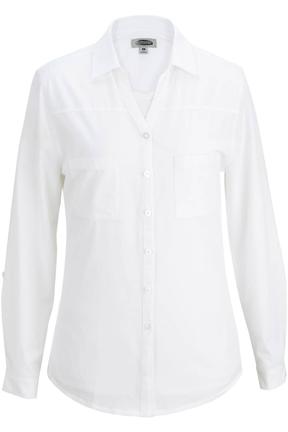 REDWOOD & ROSS® 2-POCKET BLOUSE