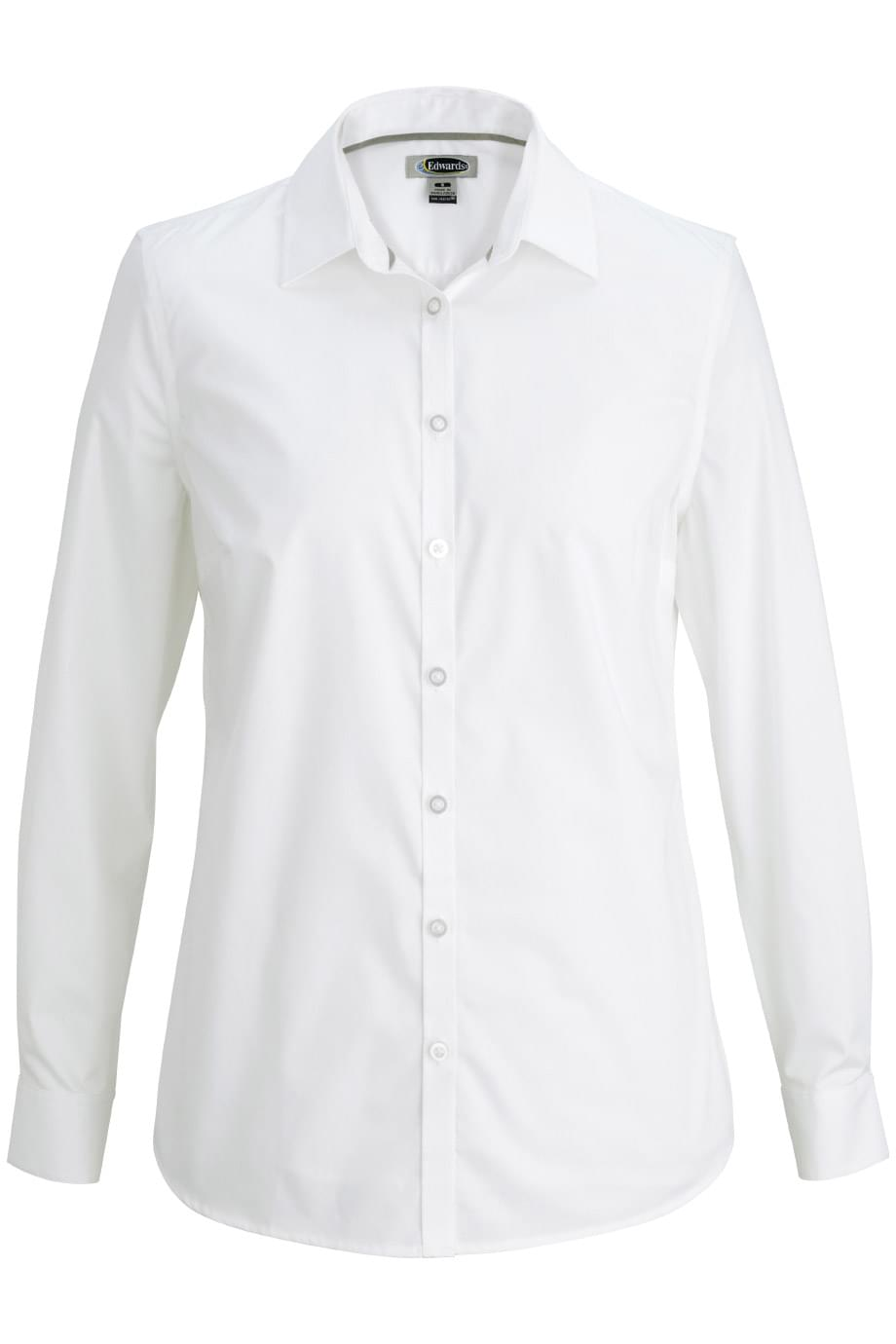 COMFORT STRETCH BROADCLOTH BLOUSE