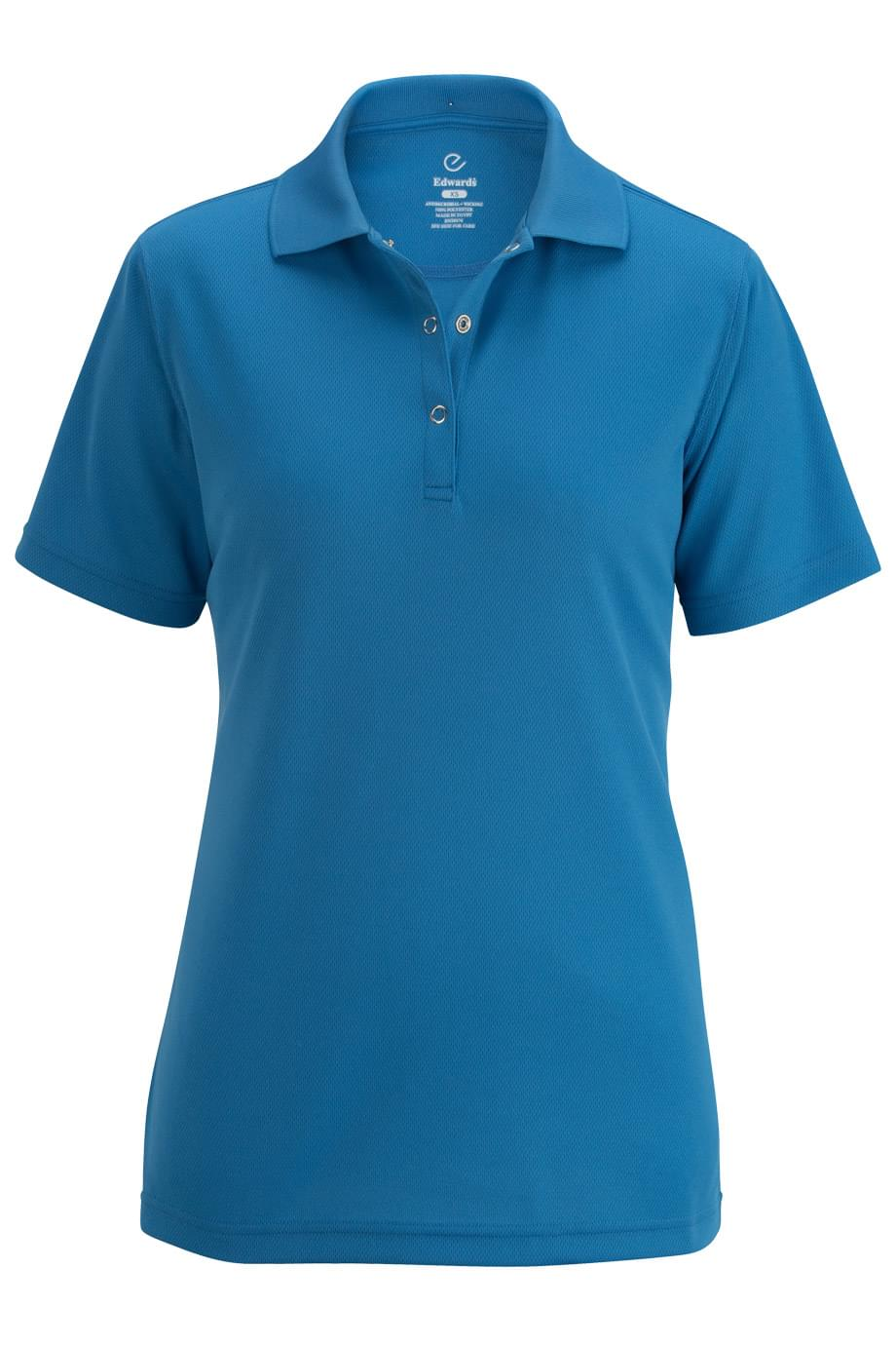 FOOD SERVICE MESH POLO WITH SNAP FRONT
