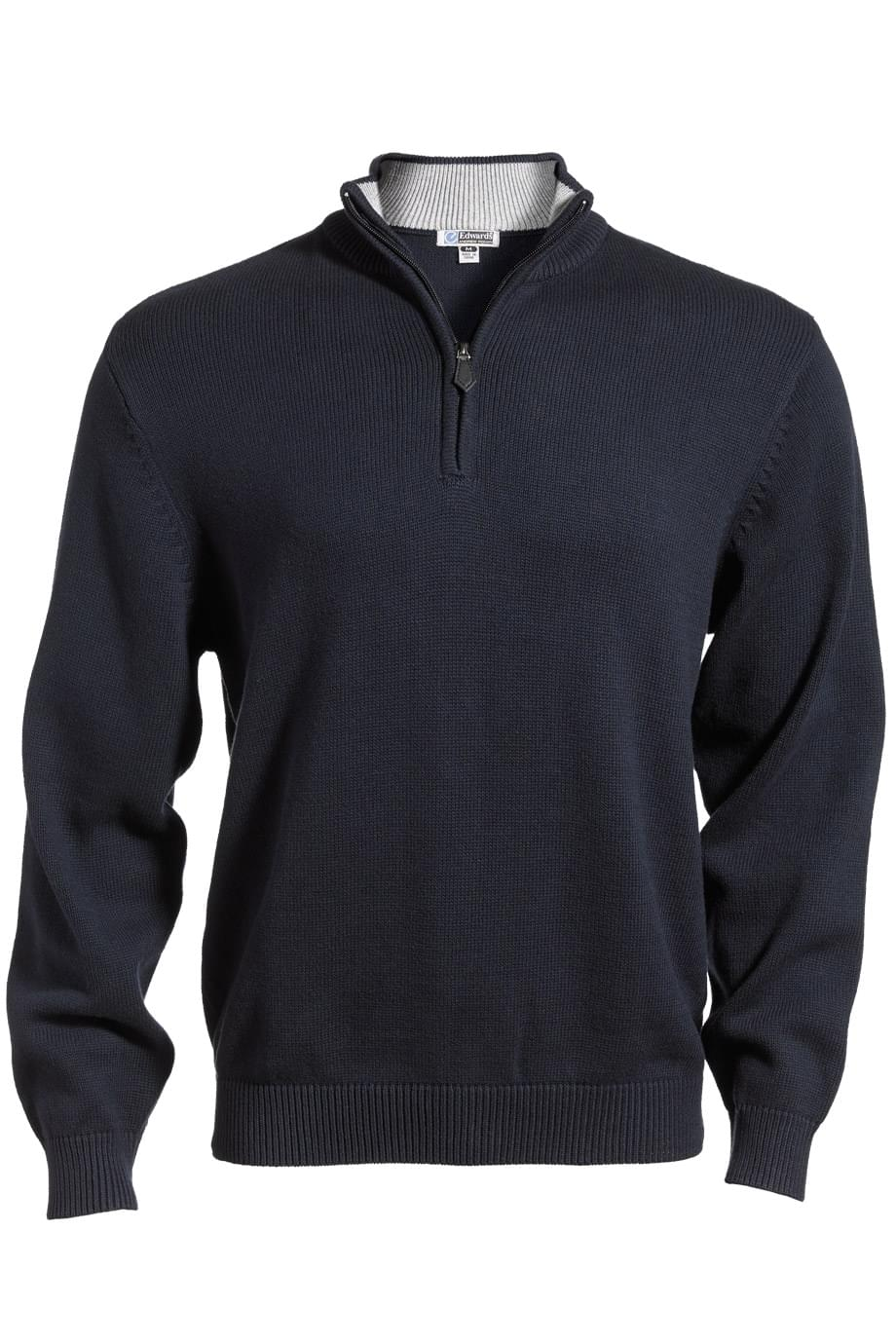 QUARTER-ZIP JERSEY KNIT SWEATER