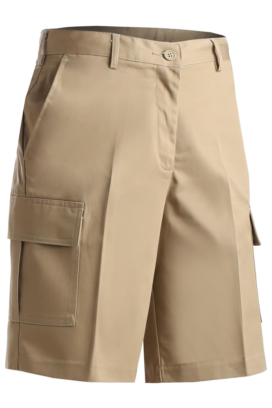LADIES' UTILITY FLAT FRONT CARGO SHORT