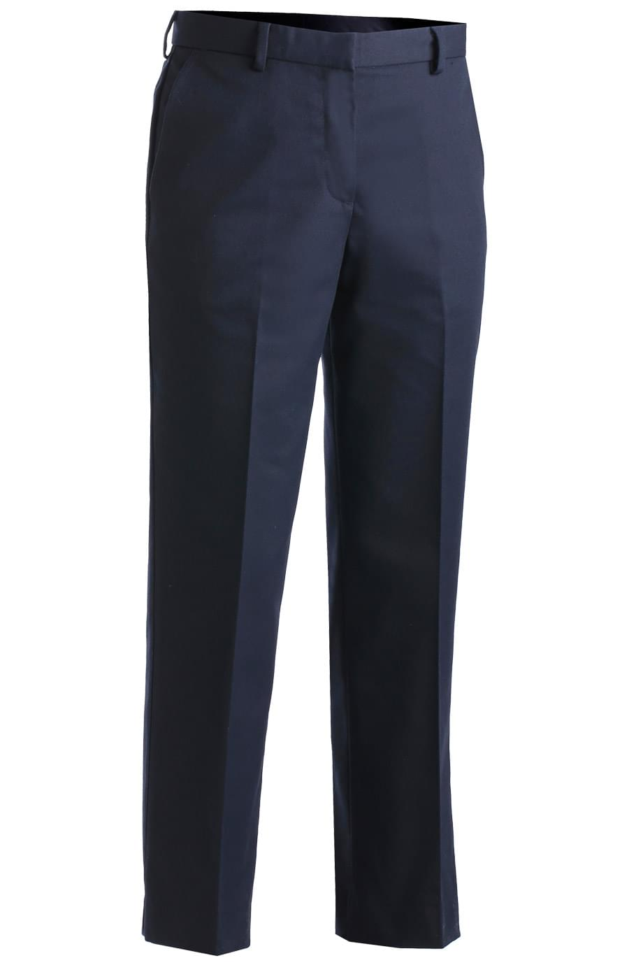 LADIES' BUSINESS CASUAL FLAT FRONT CHINO PANT