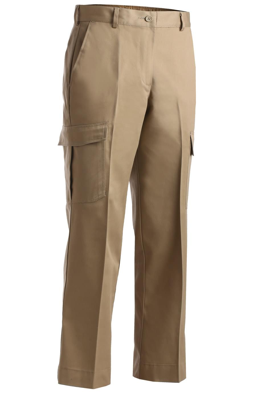 LADIES' UTILITY FLAT FRONT CARGO PANT