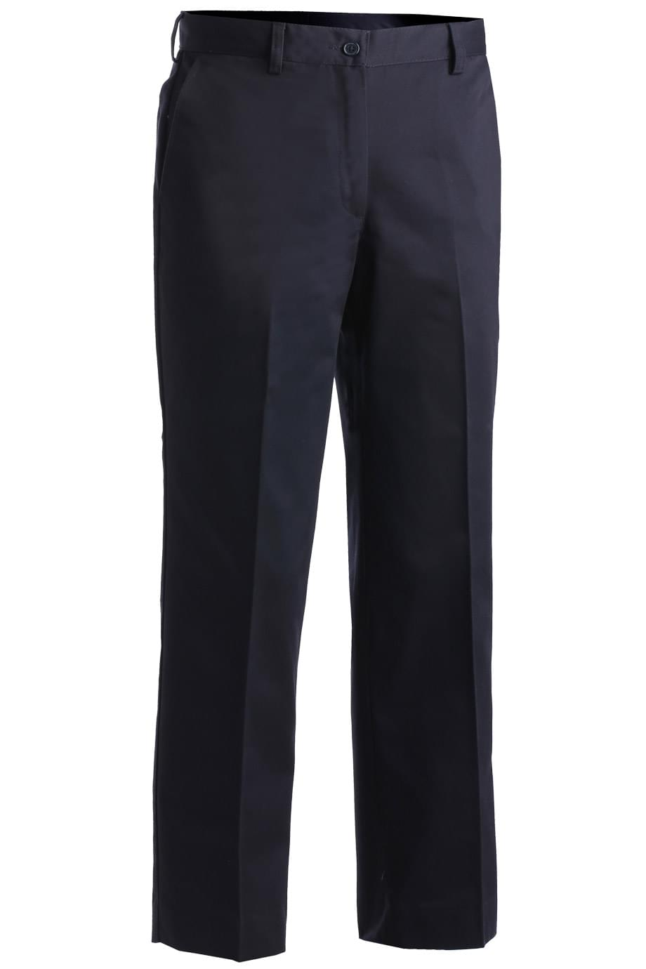 LADIES' EASY FIT CHINO FLAT FRONT PANT