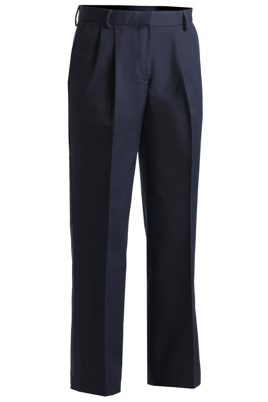 LADIES' BUSINESS CASUAL PLEATED CHINO PANT