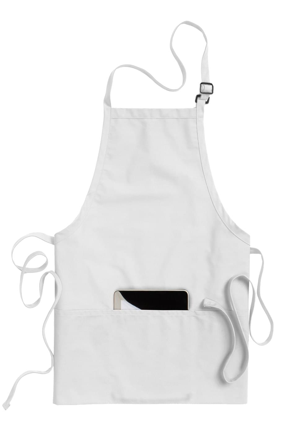 Edwards Garment Adult Three Divisional Pocket Long Ties Kitchen Bib Apron 9002