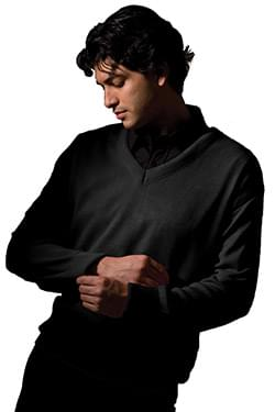 INTERLOCK ACRYLIC SWEATER