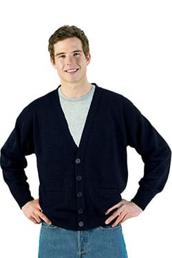 JERSEY KNIT ACRYLIC CARDIGAN WITH POCKETS