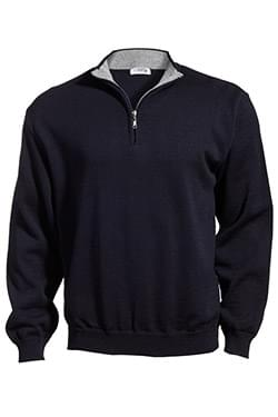 QUARTER-ZIP ACRYLIC SWEATER