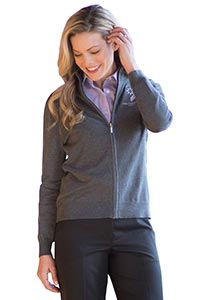 FULL-ZIP COTTON CARDIGAN