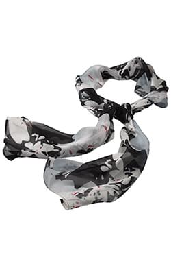SPATTER FLORAL CHIFFON SCARF